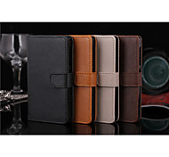 Flip Cover Wallet Case Card Slot Stand Crazy horse Simple PU PC Mobile Phone Shell for Nokia X Assorted Colors