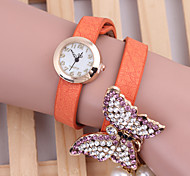 Woman's Watches Butterfly Pearl Bracelet Watch