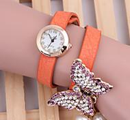 relógios borboleta pulseira de pérolas relógio da mulher