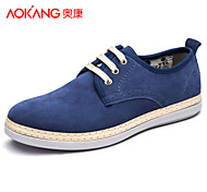 Aokang Men's Shoes Outdoor/Athletic/Casual Suede Fashion Sneakers Blue/Brown/Gray