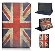 7-Zoll-Nationalflagge Muster hochwertigem PU leathe Fall für Samsung Galaxy Tab P3100