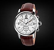 Men's Watches Genuine  SKMEI  Men's Fashion Waterproof Business Leather Strap Watch