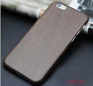 Super Thin PC Plastic Imitation Wood Grain Shell Protective Case Bag for Iphone 6