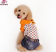 FUN OF PETS® Fashionable Clothes with Stylish Heart Jeans with Four Legs Pants (Assorted Sizes)