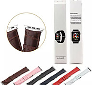 Classic Buckle Leather Wearables Straps 38mm Watch Band and Silver Metal Adapters for Apple Watch (Assorted Colors)