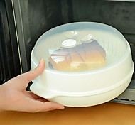 22.5CM Round Steamer for Microwave Container with Lid Kitchen Used