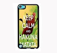 Hakuna Matata alumínio design de caso de alta qualidade para o iPod touch 5