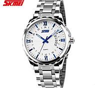 luminosa calendario masculino semana relojes correa de acero fino negocio relojes impermeables