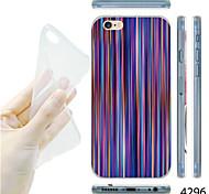 patrón de líneas de color deslumbramiento maycari® TPU vuelta suave para el iphone 6 / 6s