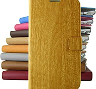 Retro bamboo pattern PU Leather Full Body Case with Stand and for iPhone 4/4S (Assorted Colors)