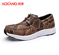 Aokang Men's Shoes Outdoor/Athletic/Casual Leather Fashion Sneakers Brown