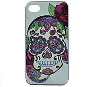 Skull Pattern PC Material Phone Case for iPhone 4/4S