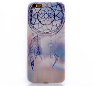 Campanula Pattern Transparent Soft TPU Material Cell Phone Case for iPhone 6