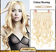 5 Clips Wavy Bleach Blonde (#613) synthetic Hair Clip In Hair Extensions For Ladies more colors available