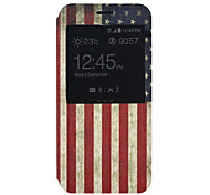 American flag Pattern PU Material Full Package Phone Case for Samsung Galaxy A8