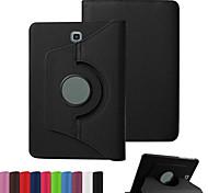 de cuero de la PU dengpin 360 grados flip que gira caso de la cubierta de la tableta soporte para samsung galaxy tab s2 8.0 T710 (colores