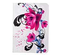 blühende Orchidee pu Lederholster mit Pattsituation für Galaxy Tab s2 8,0 t 715 / Galaxy Tab 9.7 s2 t815 um offen