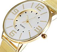 la mode bande or maille d'acier populaire regarder les femmes marque robe montres à quartz horloge heures luxe dame cadran blanc