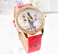 3colors reloj de diamantes punky caliente de la venta de las señoras