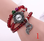 New Fashion Quartz Watch Women Dress Watch Beads  Flower Wristwatch Luxury Gold Relogio Feminino Electronics