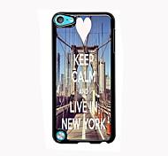 mantenha a calma e viver em Nova Iorque alumínio design de caso de alta qualidade para o iPod touch 5