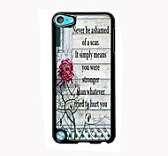 The Flower Pattern Aluminum High Quality Case for iPod Touch 5