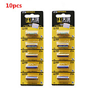 TianQiu 10PCS 12V 27A Alkaline Battery for Wireless Doorbell / Remote Control /Alarm