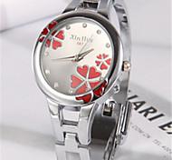 Женские Модные часы Кварцевый Группа Серебристый металл