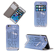 Wild Free Pattern View Window Ultra Thin PU Leather Full Body with Stand Case for iPhone 6