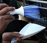 2 em 1 painel do carro desabafar escova de limpeza escova de carro kit colher dustpan