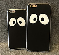 Big Eyes Pattern PU Leather Design TPU Case for iPhone 5/5S