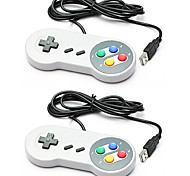 2 x Classic Joypad Gamepad Joystick USB Game Controller For SNES Window PC/MAC