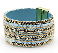 Personality Candy Color Handwork Weave Magnetic Buckle Bracelets