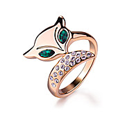 Ring Imitation Emerald Fashion Party Jewelry Alloy Women Statement Rings 1pc,One Size Rose Gold