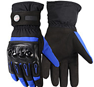 Guantes de moto Dedos completos Tejido/Cuero blando/TPU M/L/XL Rojo/Negro/Azul