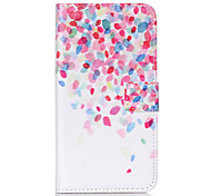 Petal Pattern PU Leather Phone Case For Nokia N640