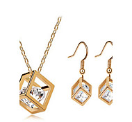 May Polly The explosion of fashion exquisite inlaid CZ Diamonds Pendant Necklace Earrings Se
