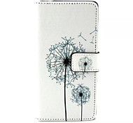 Dandelion  Pattern PU Leather Phone Case For Sony M4