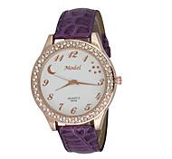 Mujer Reloj de Vestir Reloj de Moda Reloj de Pulsera Reloj Casual Cuarzo Calendario Resistente a los Golpes Esfera Grande Cuero Auténtico