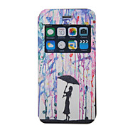 Scented Couples Rain Pattern Windows Phone Holster for iPhone 6