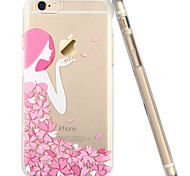 ESR® Mania Series Scratch-Resistant Perfect Fit Cute Cartoon Floral Girl Clear Soft TPU Bumper Case for iPhone 6