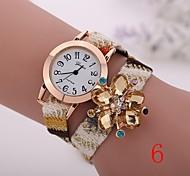 2015  New Fashion  Women Watches Gold Wristwatch Ladies Quartz Watches Geneva   Flower  Bracelet XR1269