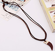 Men's Resin Leather Handcrafted Vintage Necklaces