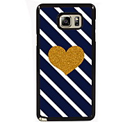 Golden Heart Design Slim Metal Back Case for Samsung Galaxy Note 3/Note 4/Note 5/Note 5 edge