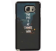 You Voice is My Favorite Sound Design Slim Metal Back Case for Samsung Galaxy Note 3/Note 4/Note 5/Note 5 edge