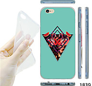 MAYCARI®Inverted Triangle Pattern TPU Soft Transparent Back Case for iPhone 6
