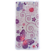 Butterfly Pattern Slim Transparent TPU Material Soft Phone Case for Sony M2