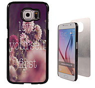 liebe dich selbst erste Design Aluminium-Qualitätsfall für Samsung-Galaxie s6 Rand