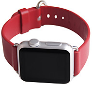 JDHDL Premium Cow Leather with Stainless Steel Buckle Hand-make 42mm Band for Iwatch