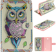 Personality Owls PU Leather Full Body Case with Card for Samsung Tab 4 7.0 T230/Tab 3 Lite T110/Tab 3 8.0 T310 T311